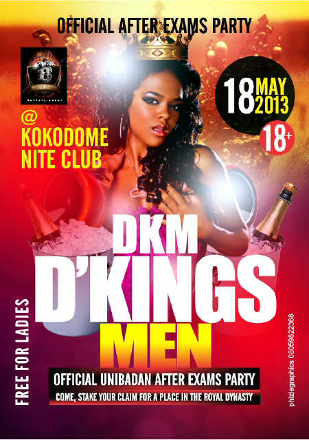 Kingsmen Party Flyer