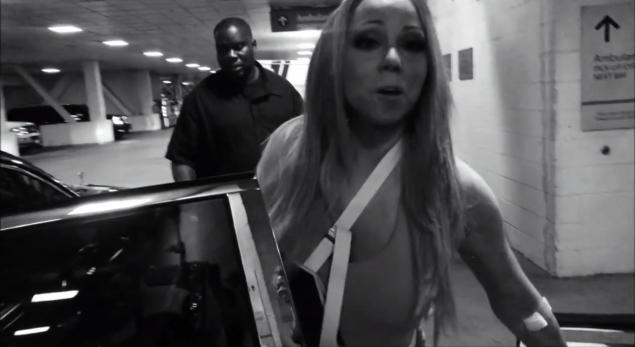 Mariah Carey is making the best of her unfortunate injury.
