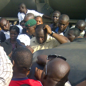 Anambra state Governorship aspirant Ifeanyi Ubah also stranded in the disabled protest along Asaba-B